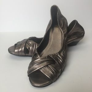 COLE HAAN NIKE AIR Collaboration Pewter Wedge 7.5B